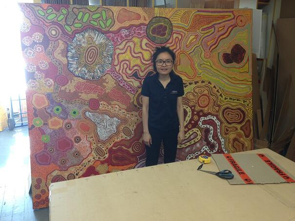 Aboriginal painting sent by PACK & SEND