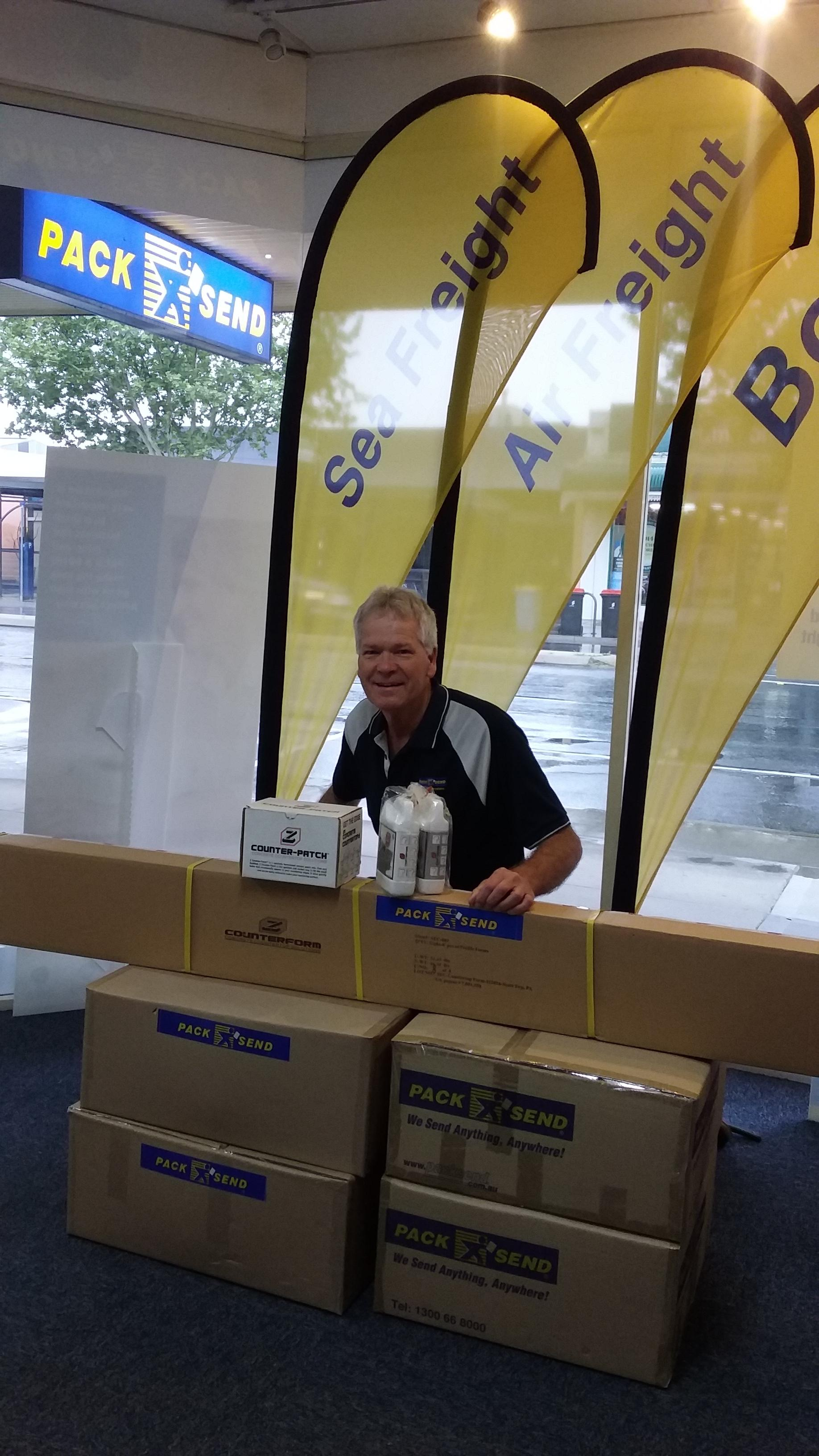 Concrete Countertops Australia grows their business with PACK & SEND