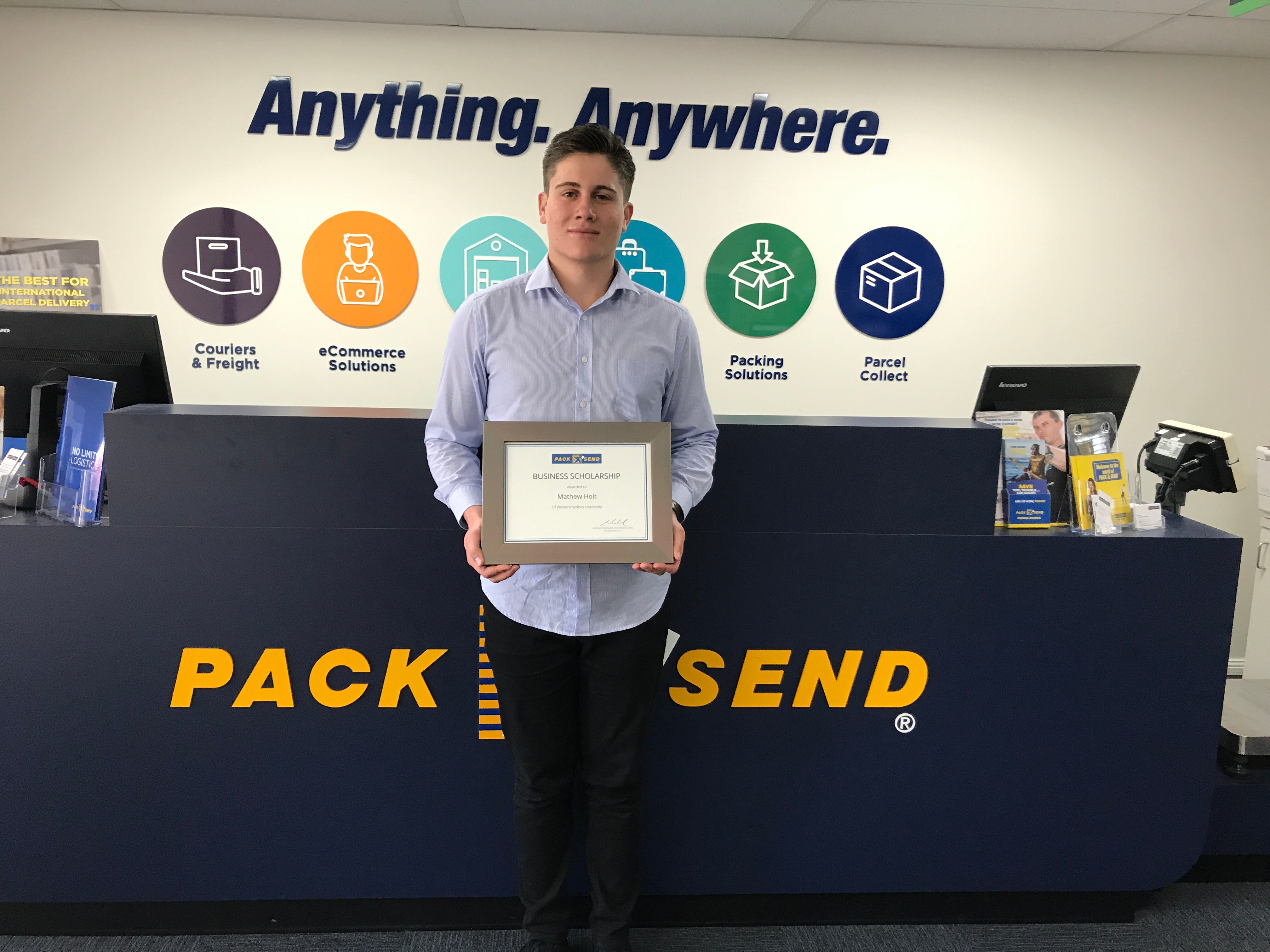 PACK & SEND Business Scholarship Winner Announced